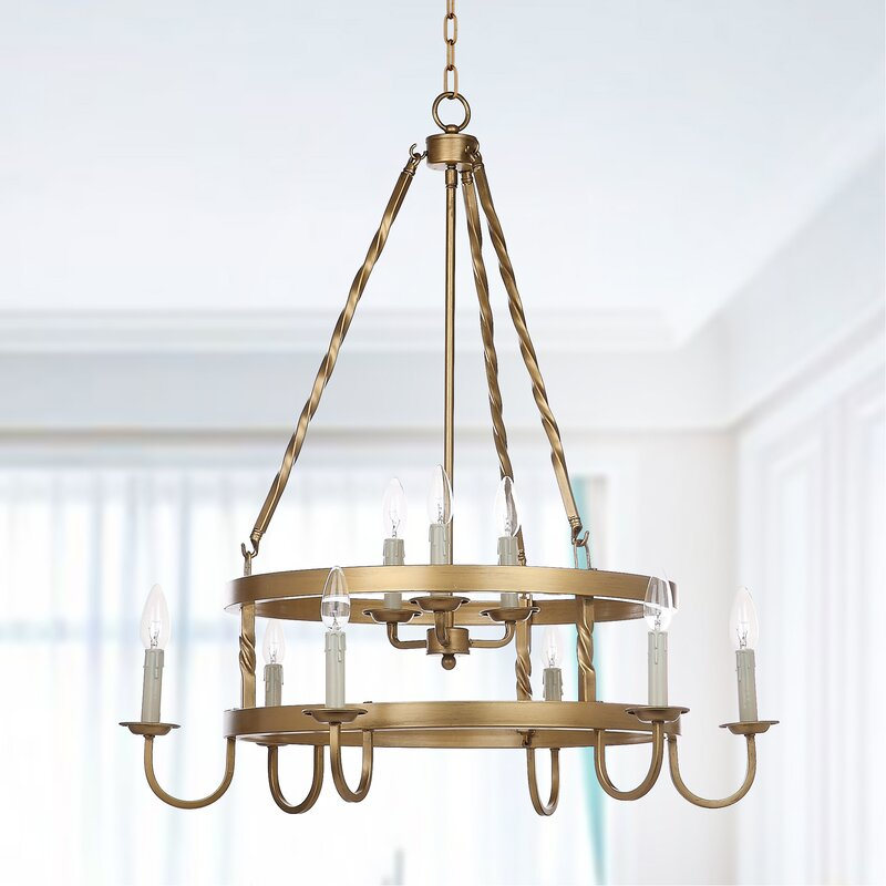 Anders 9 Light Candle Style Chandelier
