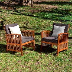 Wood Patio Furniture You\'ll Love   Wayfair