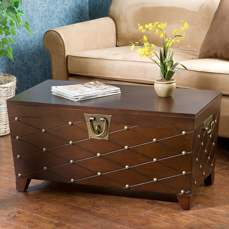 High Quality Cainhoe Nailhead Trunk Coffee Table