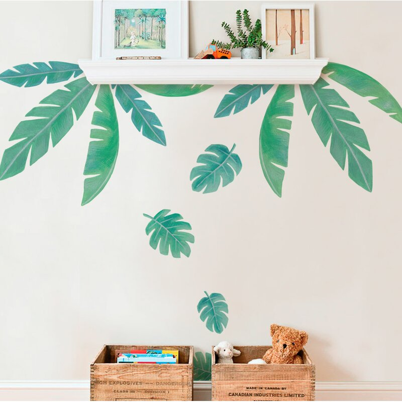 Bargas Tropical Leaves Wall Decal  sc 1 st  Wayfair & Harriet Bee Bargas Tropical Leaves Wall Decal | Wayfair