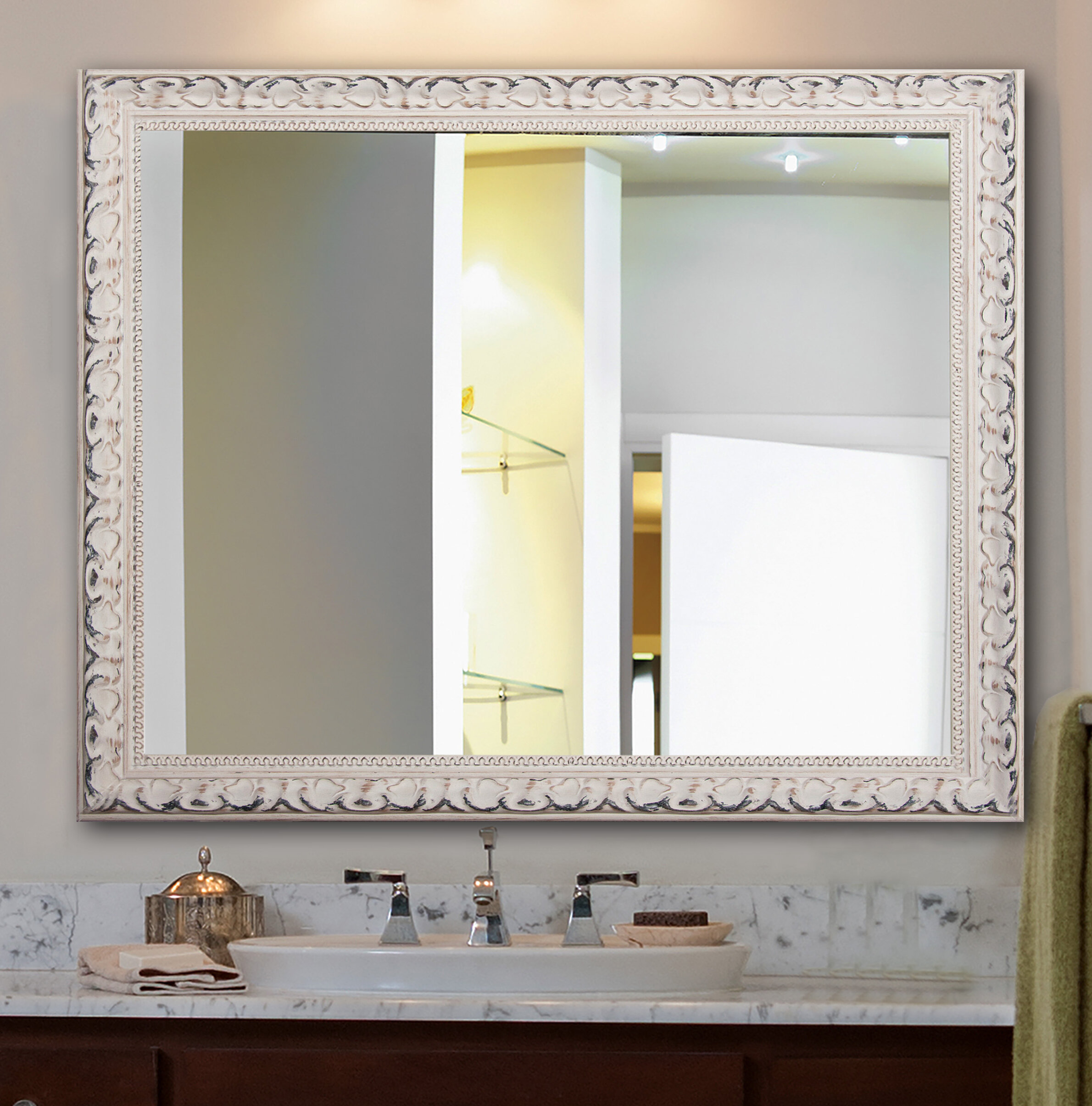 One Allium Way Rectangle French Victorian Wall Mirror & Reviews ...