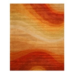 Kharar Hand-Woven Rust/Yellow Area Rug