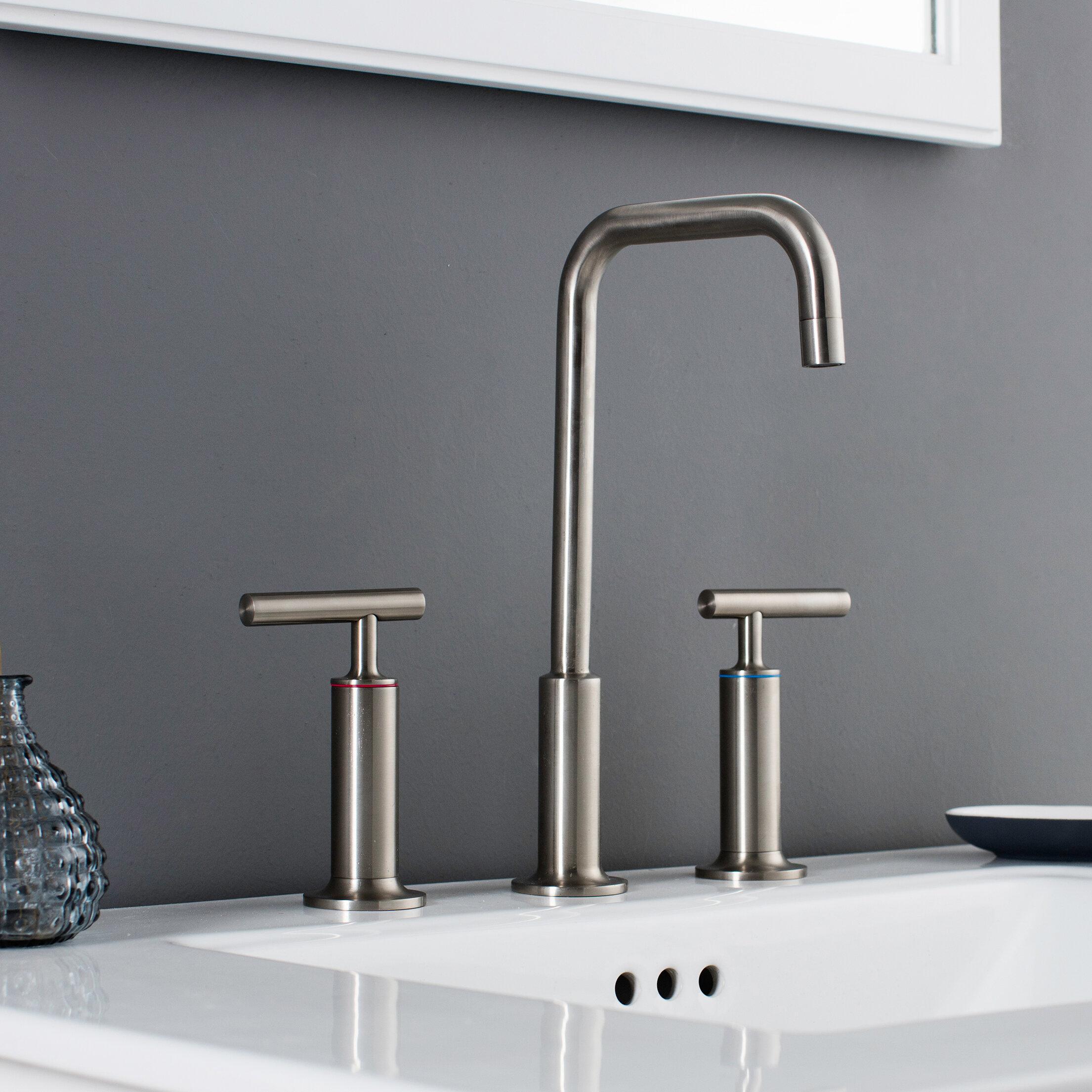 Maykke Prelude 3 Piece Widespread Wrist Blade Handle Bathroom Faucet Set Wayfair