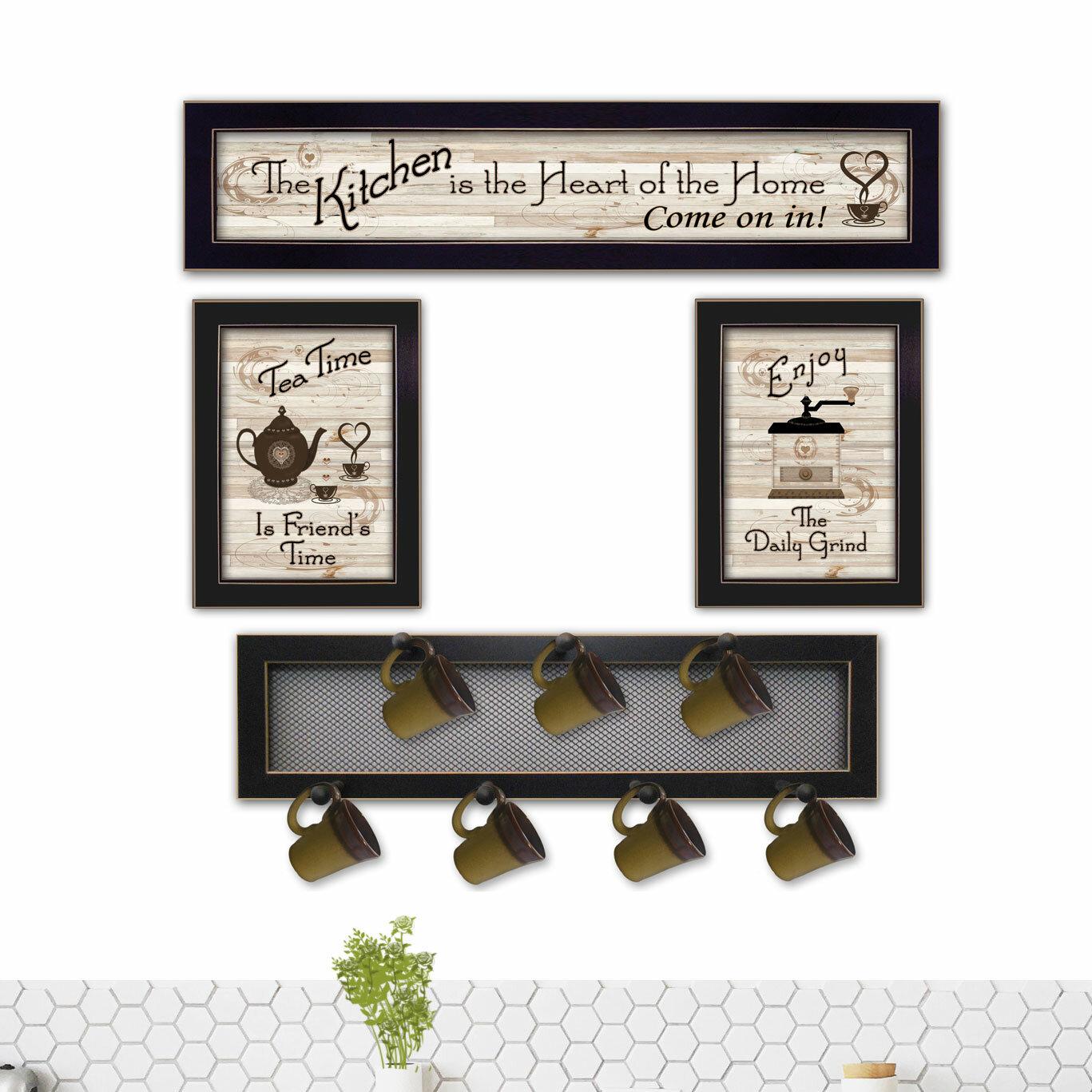 August grove 4 piece kitchen wall décor set reviews wayfair