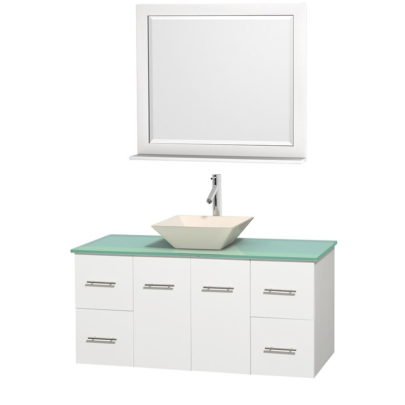 "Wyndham Collection Centra 48"" Single White Bathroom Vanity ..."