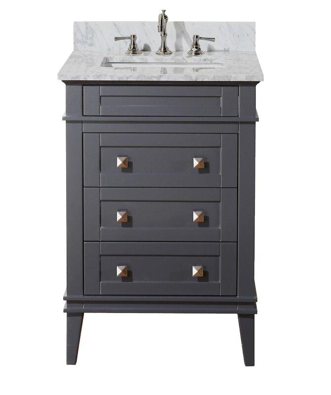 """Bathroom Vanity Not Against Wall kbc eleanor 24"""" single bathroom vanity set & reviews   wayfair"""