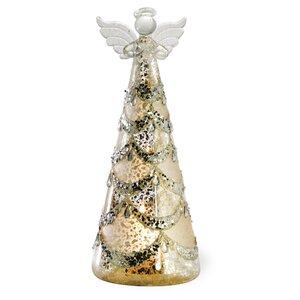 Jeweled Silver Angel LED Large