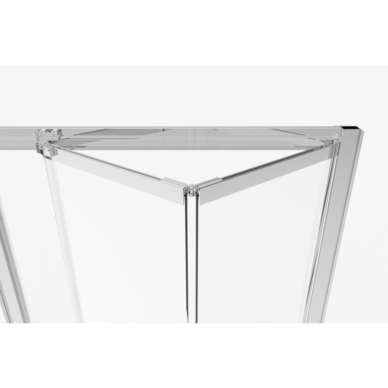 "Basco Infinity Bifold 31"" x 72"" Folding Semi-Frameless Shower Door  Glass Type: Clear, Finish: Chrome"