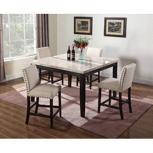 Amoret 5 Piece Counter Height Dining Set