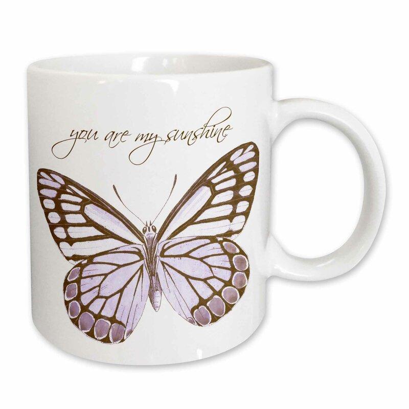 Inspirational Erfly With You Are My Sunshine Coffee Mug