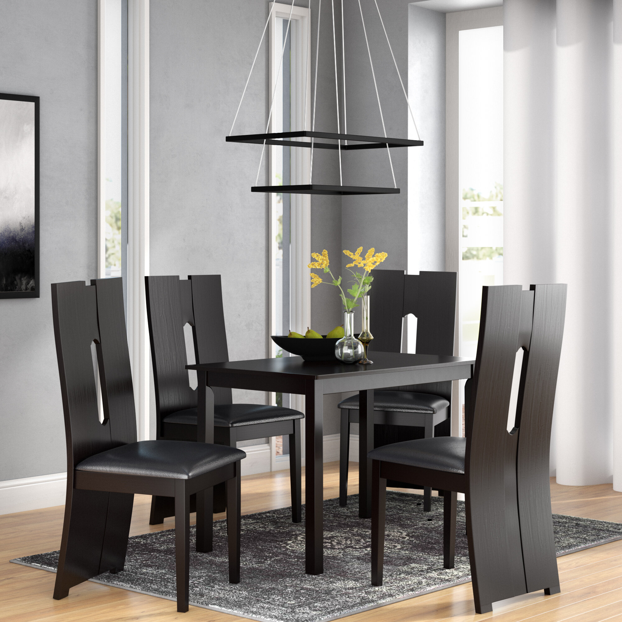 Orren Ellis Onsted Modern And Contemporary 5 Piece Breakfast Nook Dining Set Wayfair