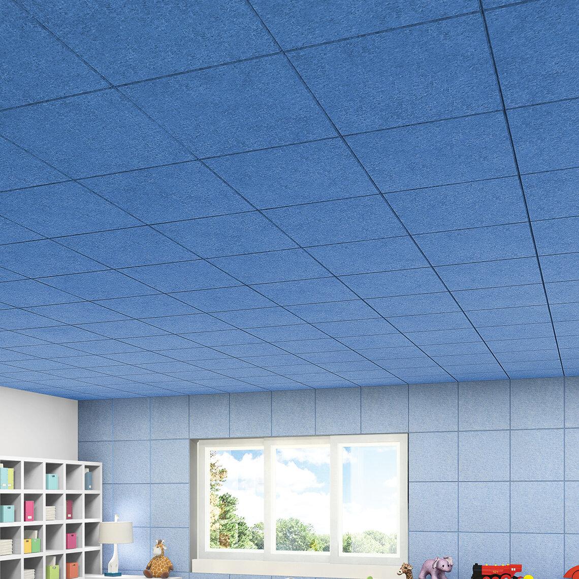 Toptile 2 ft. x 2 ft. Lay-In Ceiling Tile in Sky Blue | Wayfair