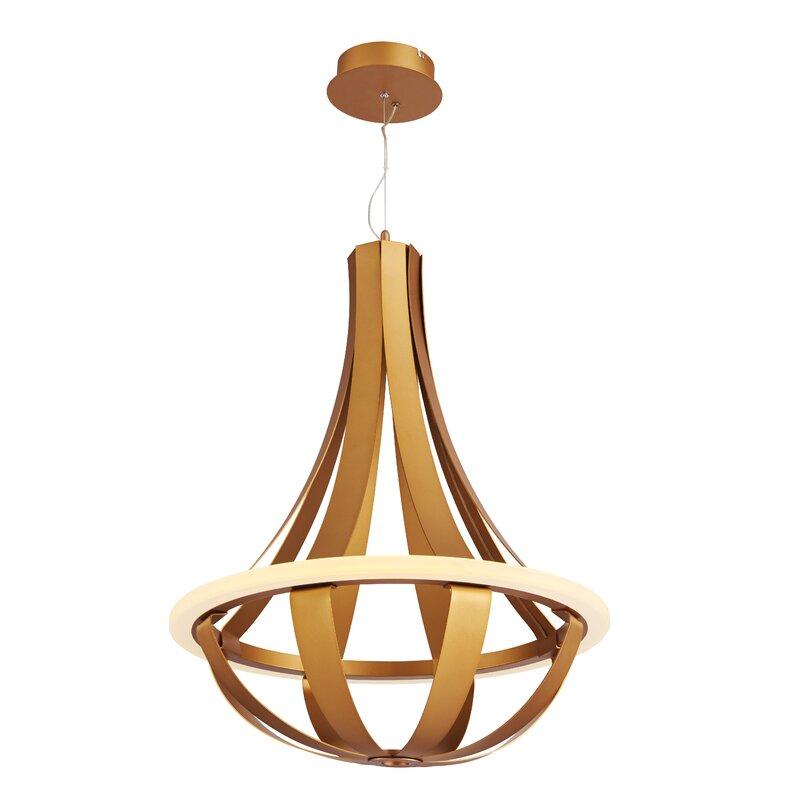 Brayden Studio Ezekiel 1-Light LED Geometric Pendant  Finish: Gold