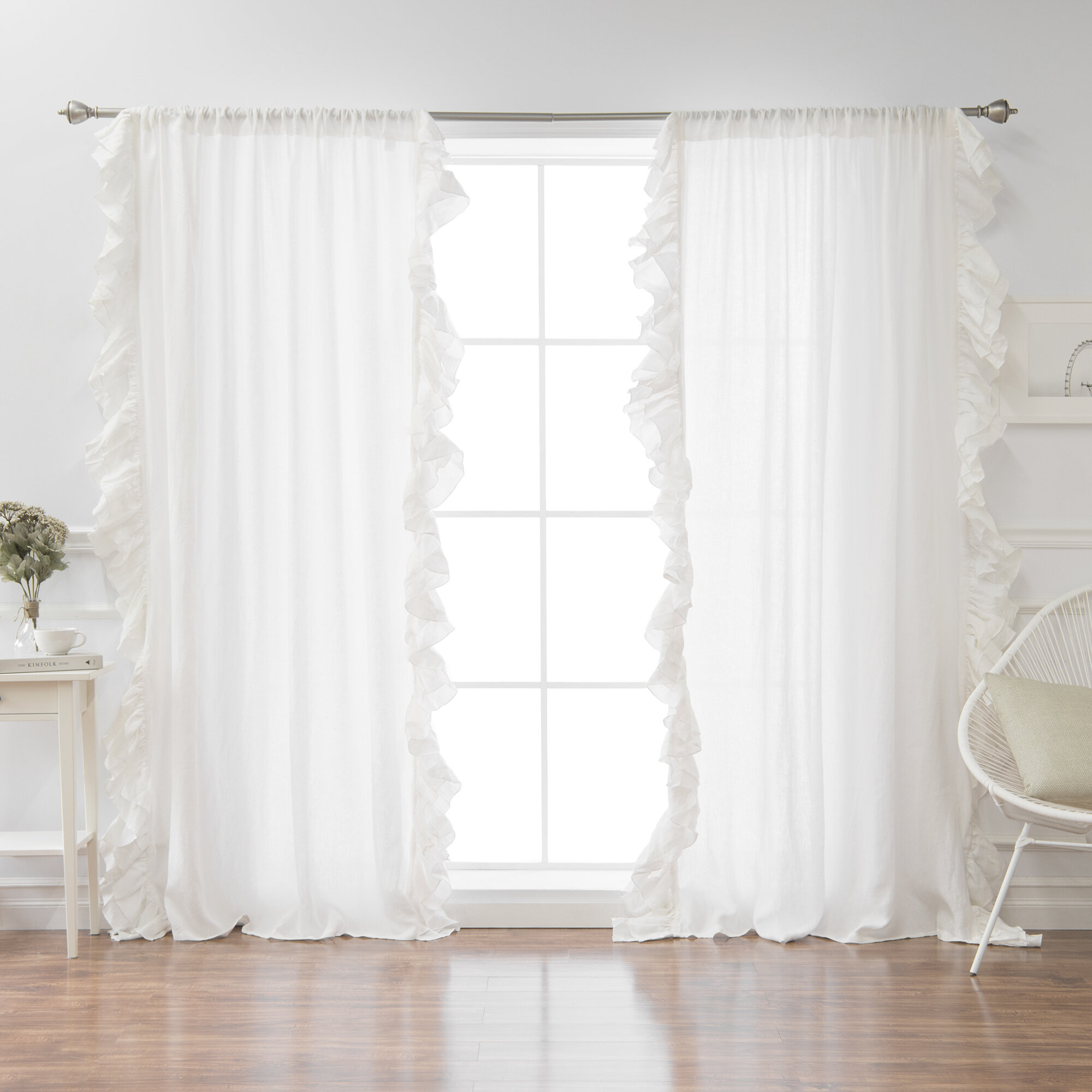ruffled gypsy voile sheer curtain panel designs ruffle curtains treatment v window