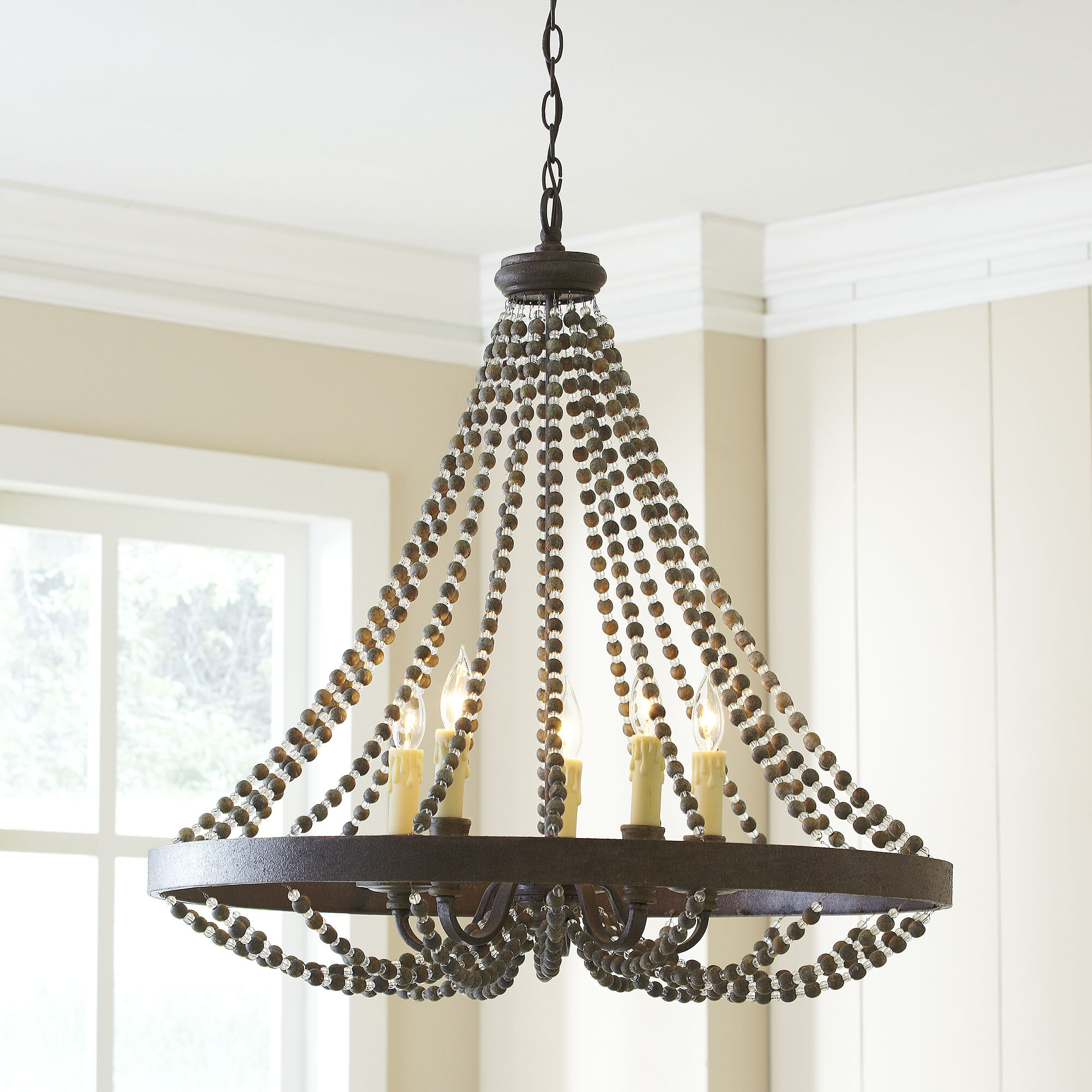 white pin chandelier in shop wooden bird flitty bloomingville online beaded nordal wood