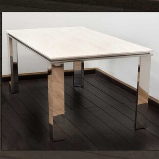 Stone/Stainless Steel Dining Table By Hokku Designs