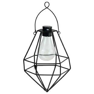 Solar outdoor hanging lanterns wayfair wilson diamond solar powered 1 light led outdoor hanging lantern aloadofball Gallery