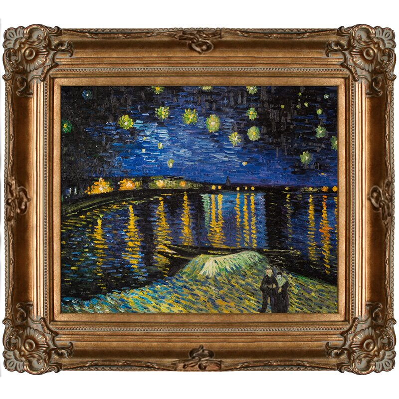 Best Tori Home Starry Night Over The Rhone by Vincent Van Gogh Framed  ZK79