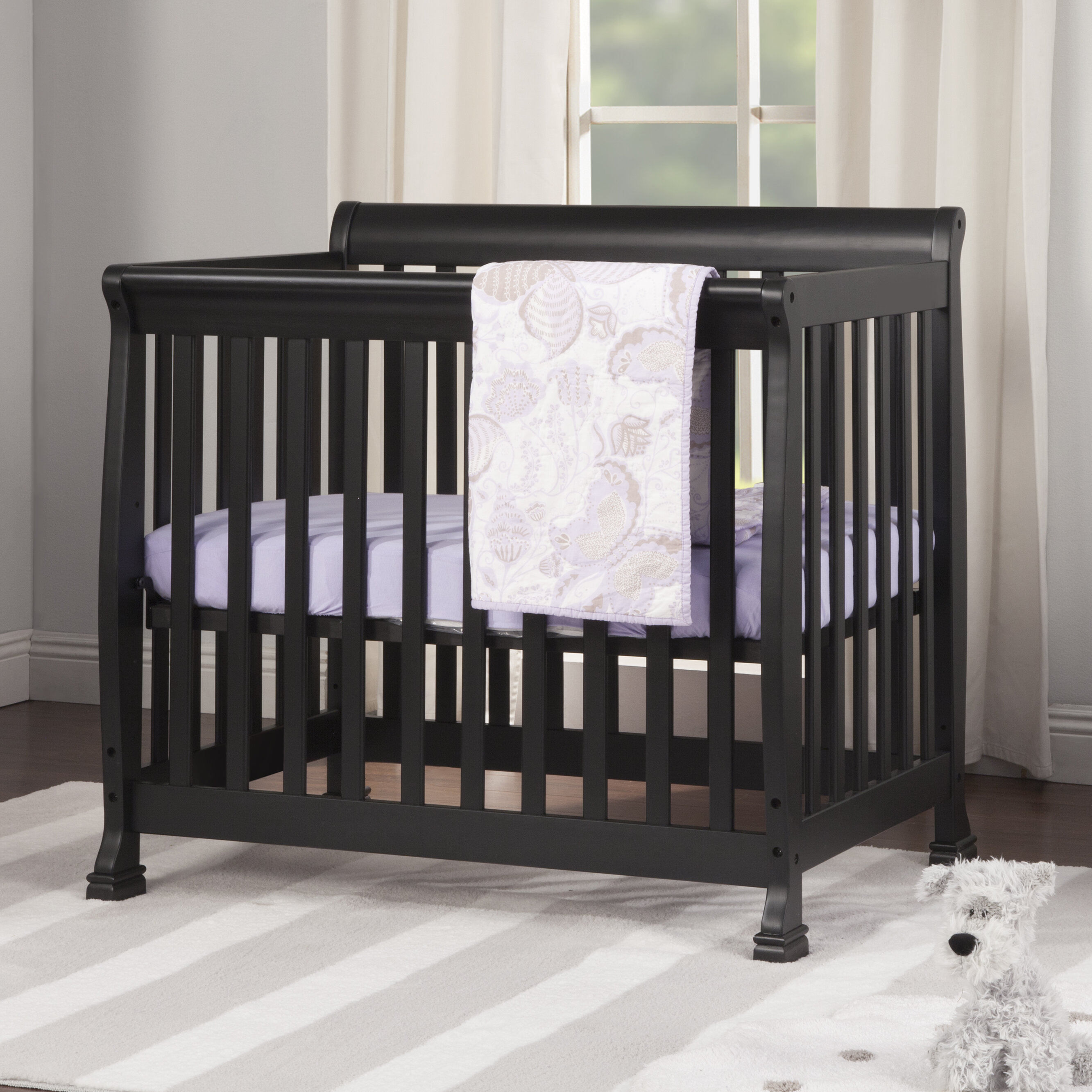 crib wood cribs natural me convertible mini in dream on pin finish piper