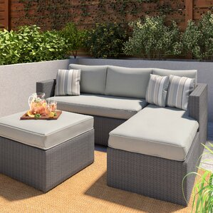 Caffin 3 Piece Sectional Set With Cushions