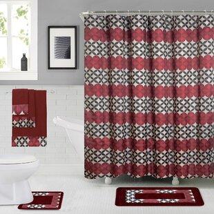 rosenbloom shower curtain set - Bathroom Shower Curtains