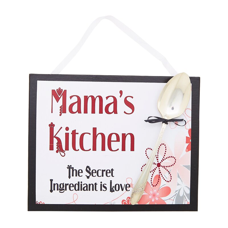 Mamau0027s Floral Kitchen Sign Wall Décor