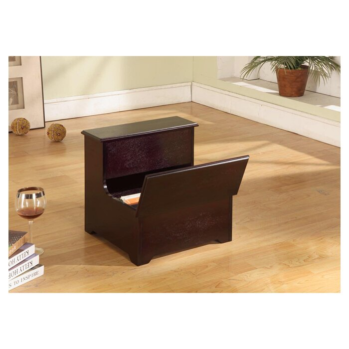 Inroom Designs 2 Step Manufactured Wood Storage Step Stool