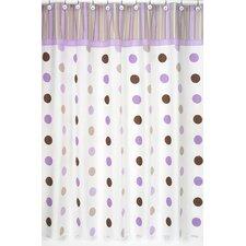 mod dots cotton shower curtain