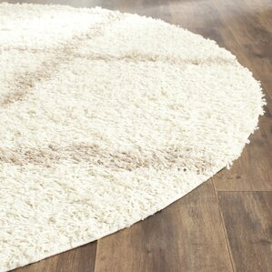 shag ivorybeige area rug