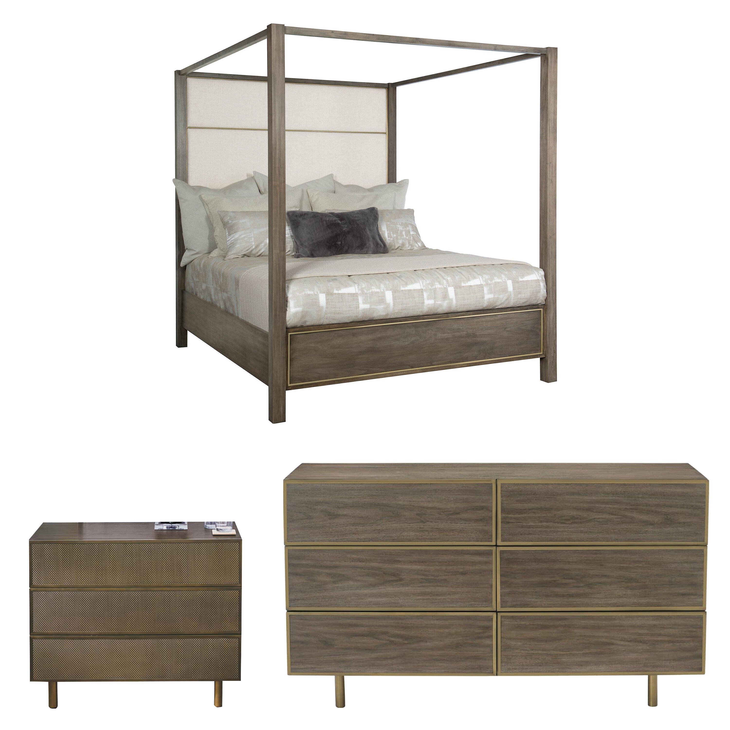 Terrific Profile King Canopy Configurable Bedroom Set Home Interior And Landscaping Analalmasignezvosmurscom