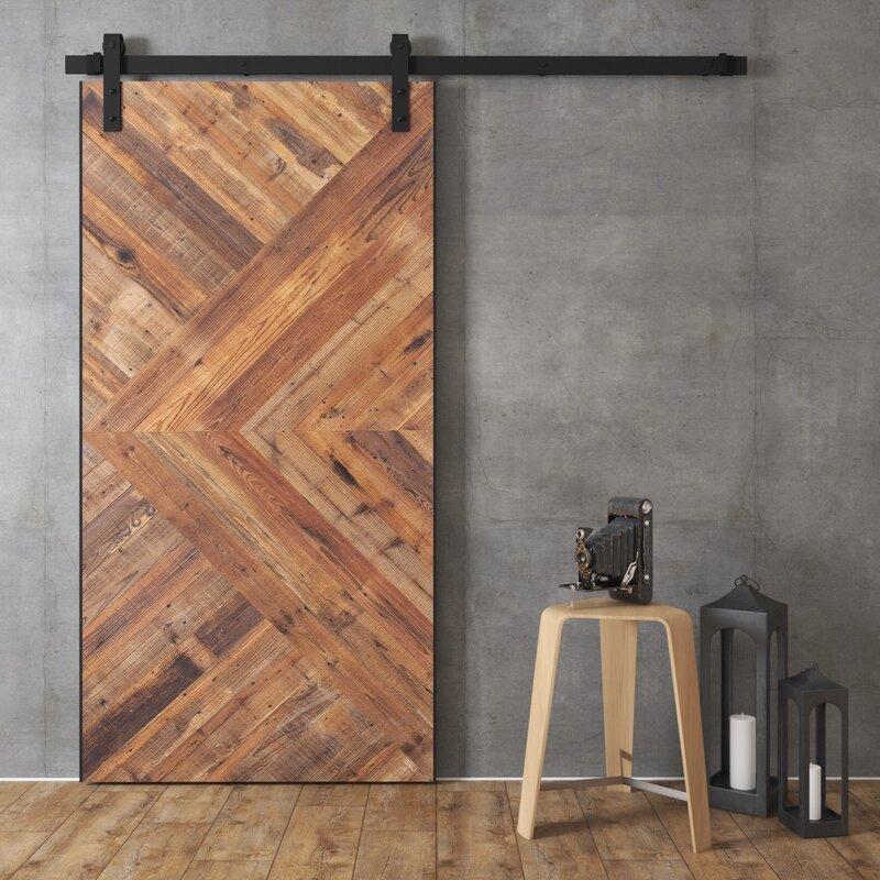 Superieur Wood And Metal Reclaimed Malibu Barn Door With Installation Hardware Kit
