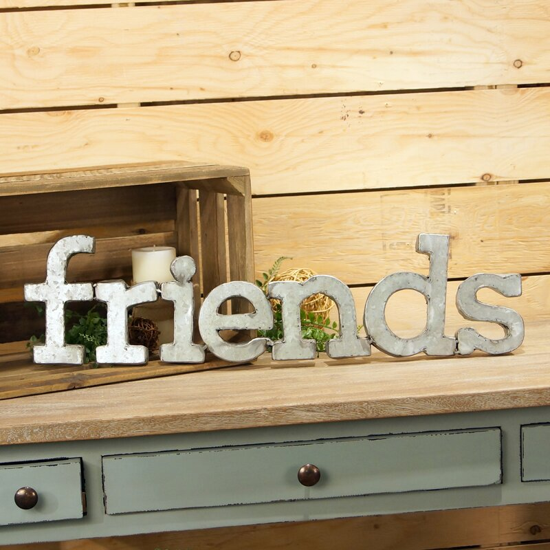 Friends Metal Words Wall Décor