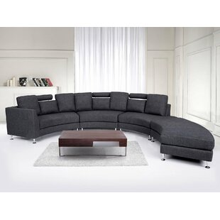 Delicieux Crivello Curved Sectional Sofa