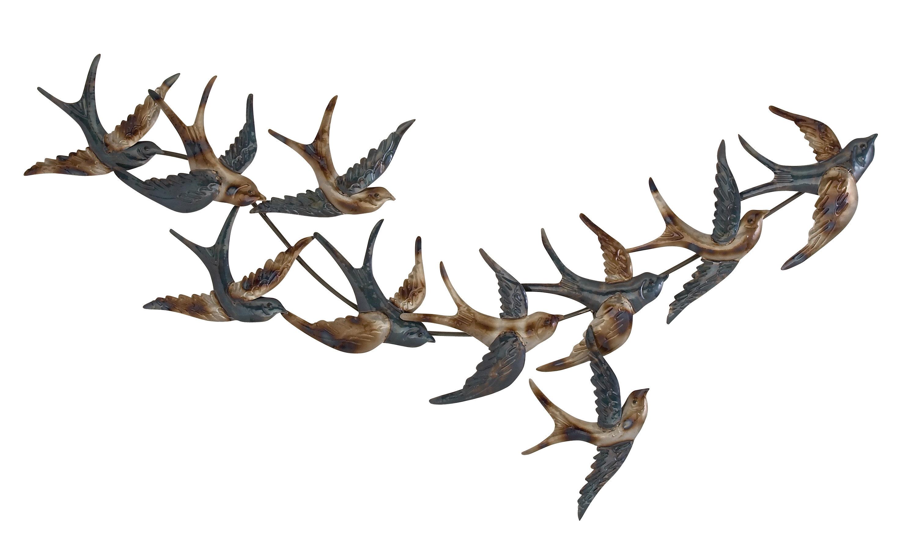 Cole Grey Metal Bird Wall Dcor Reviews Wayfair