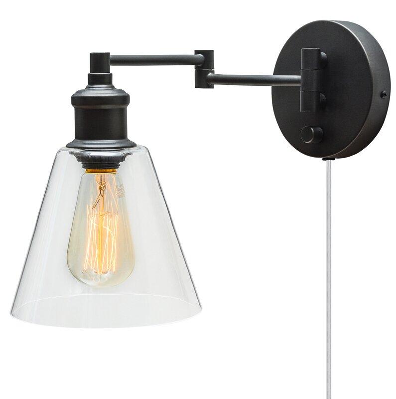 Superb Aidan 1 Light Swing Arm Lamp