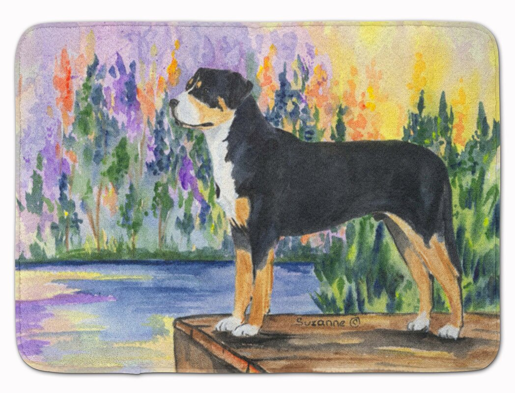 East Urban Home Greater Swiss Mountain Dog Memory Foam Bath Rug