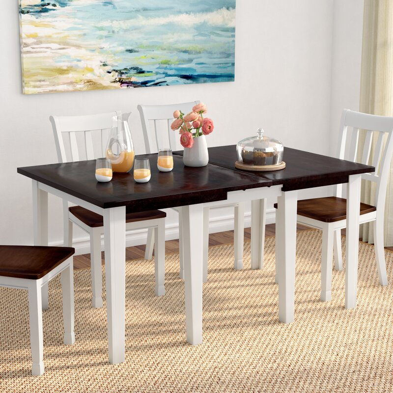 Beachcrest Home Tamiami Rectangular Leg Extendable Dining Table ...