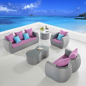 holcombe 5 piece seating group with cushions