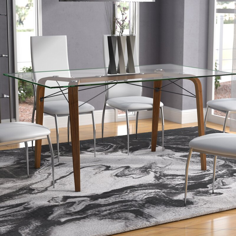 Wexford Square Mid Century Modern Dining Table