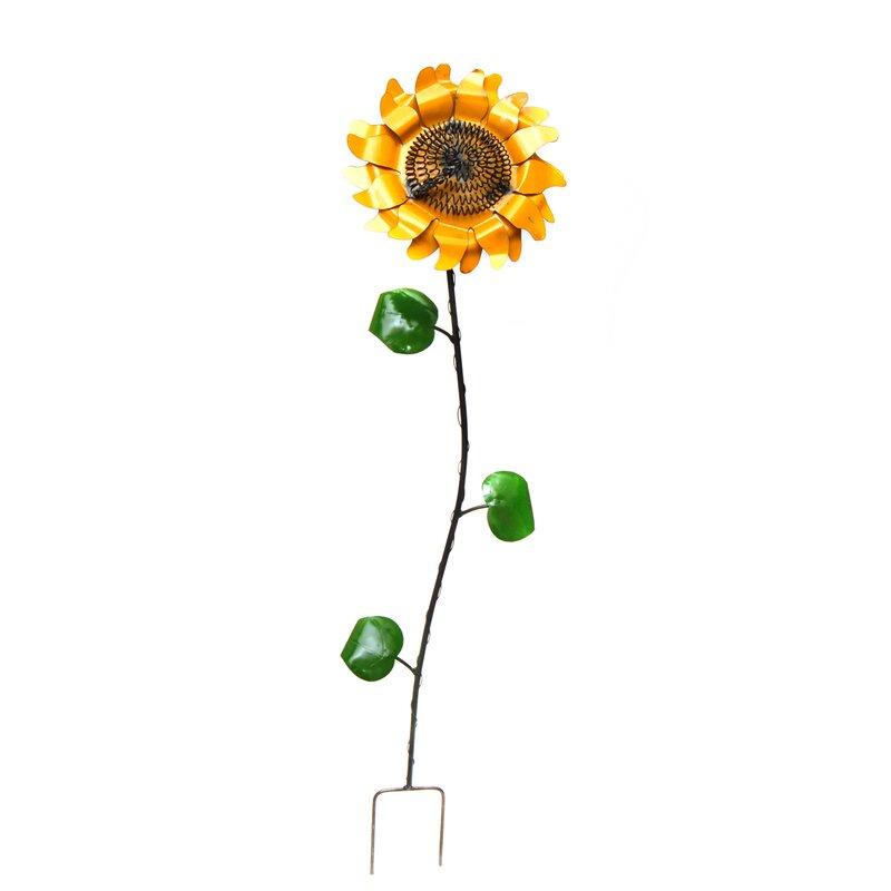 Small Sunflower Garden Stake