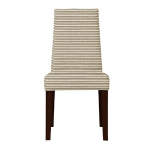 Haddonfield Horizontal Stripes Parsons Chair (Set of 2) by Latitude Run