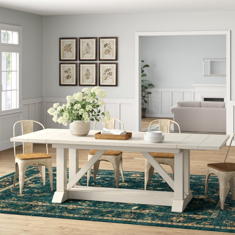 birch lane heritage lisbon extendable dining table reviews wayfair. Black Bedroom Furniture Sets. Home Design Ideas