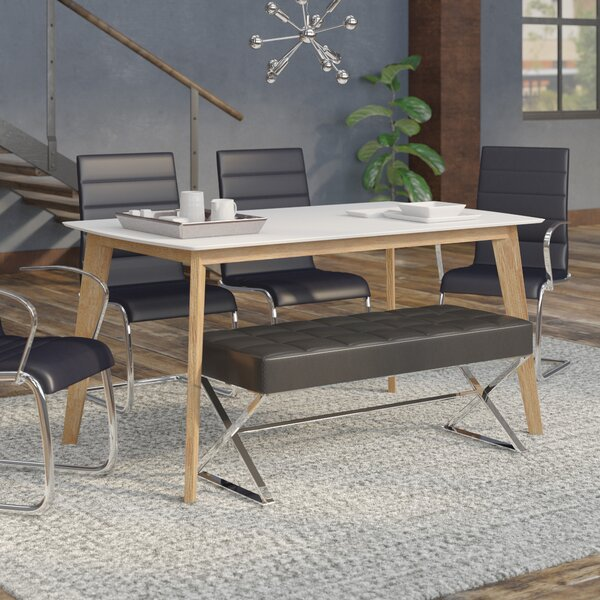 Mercury Row Mcnamara Retro Modern Dining Table Reviews Wayfair