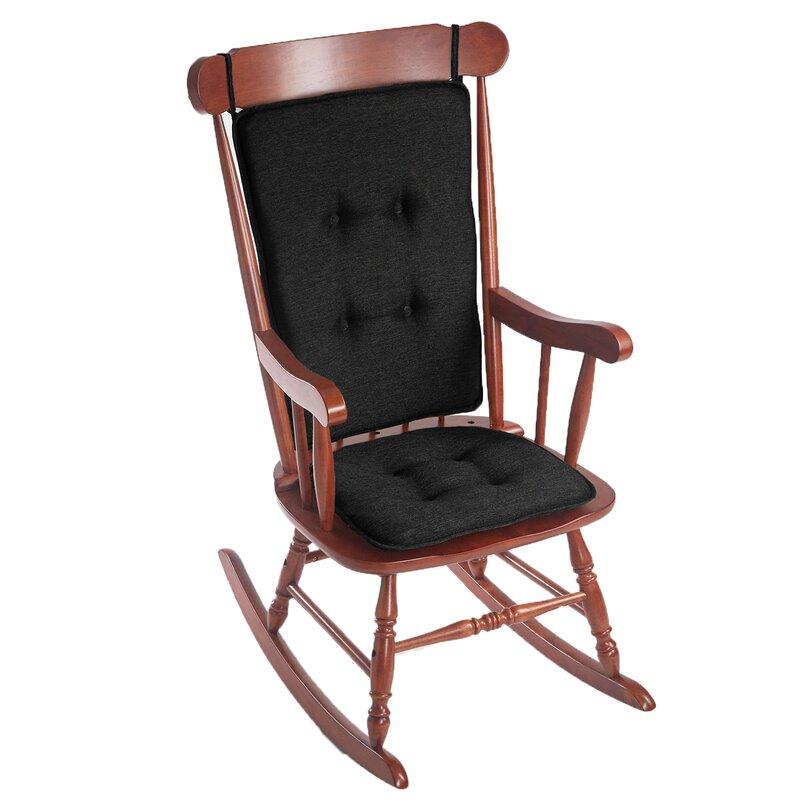 Beau Embrace 2 Piece Gripper Rocking Chair Cushion Set