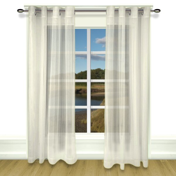 Ricardo Trading Atlantic Striped Sheer Grommet Single