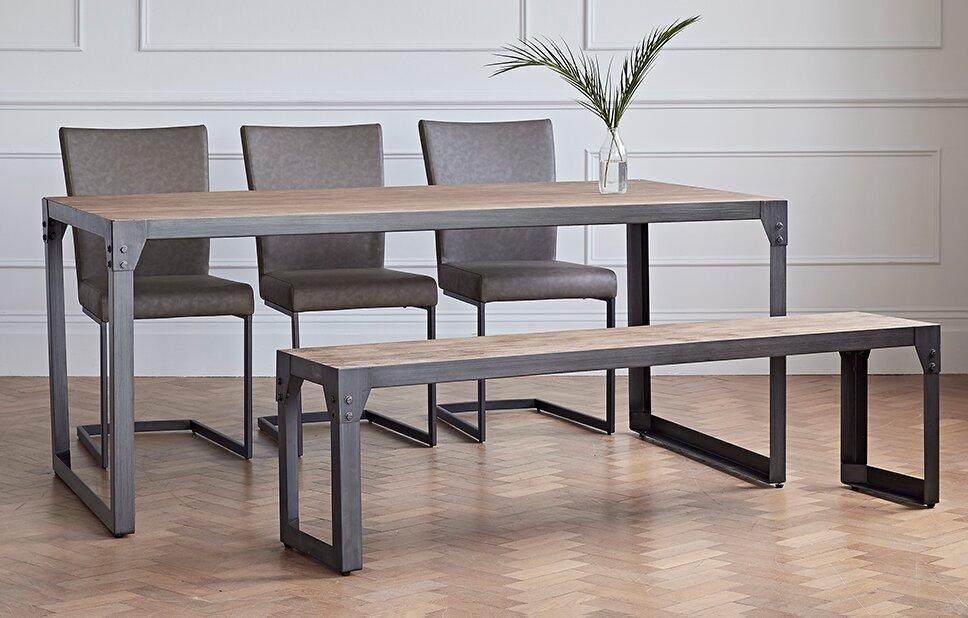 williston forge essgruppe evie mit 3 st hlen und einer bank bewertungen. Black Bedroom Furniture Sets. Home Design Ideas