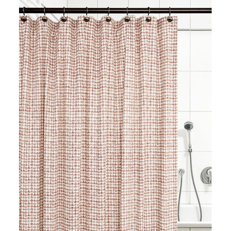 Langley Street Brandon Ikat Check 100 Cotton Shower Curtain