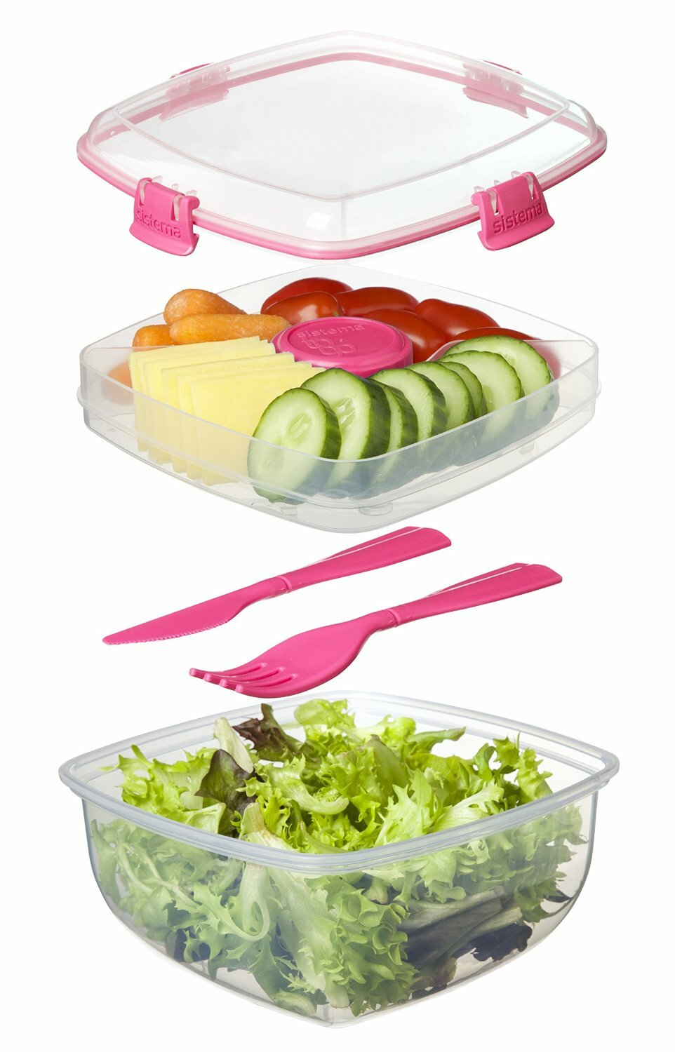 Sistema Salad To Go 372 oz Food Storage Container Wayfair