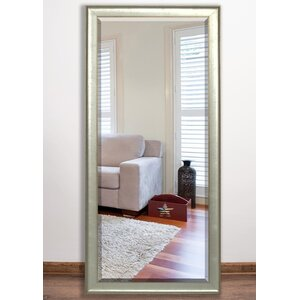 Vintage Silver Beveled Wall Mirror