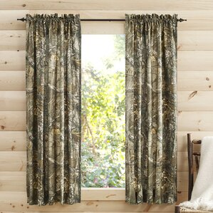 Camouflage Semi Sheer Pinch Pleat Curtain Panels (Set Of 2)